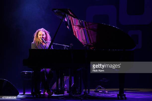Comedian/musician Tim Minchin performs onstage during the Moontower Comedy Festival at The Paramount Theatre on April 23 2015 in Austin Texas