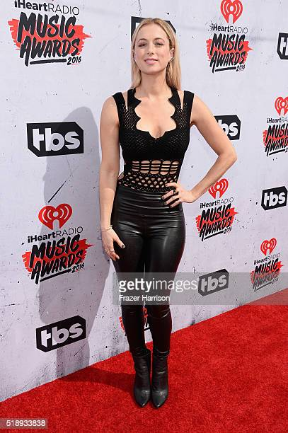 Comedianne Iliza Shlesinger attends the iHeartRadio Music Awards at The Forum on April 3 2016 in Inglewood California
