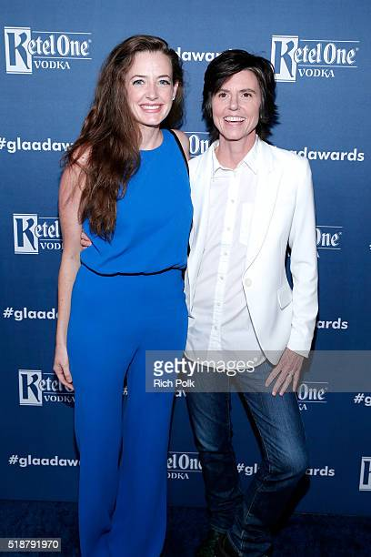 Comedianne Tig Notaro and actress Stephanie Allynne attend the 27th Annual GLAAD Media Awards hosted by Ketel One Vodka at the Beverly Hilton on...