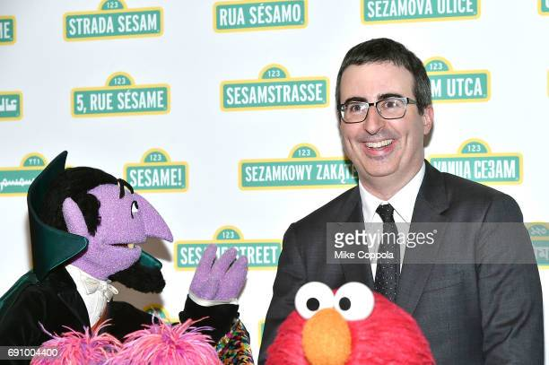 Comedian/Political Commentator John Oliver poses for a photo at the 15th Annual Sesame Workshop Benefit Gala at Cipriani 42nd Street on May 31 2017...