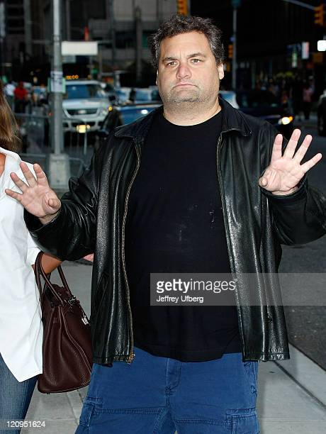 Comedian/radio personality Artie Lange visits Late Show With David Letterman at the Ed Sullivan Theater on August 24 2009 in New York City