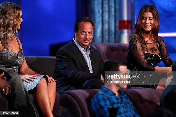Comedians Amy Schumer Jon Lovitz TV personality SteveO and actress Kate Walsh onstage at Comedy Central's Roast of Charlie Sheen held at Sony Studios...