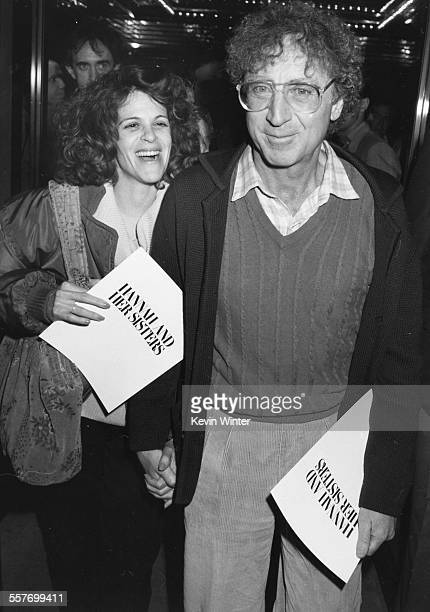 Comedians and spouses Gene Wilder and Gilda Radner attending the premiere of the new Woody Allen film 'Hannah and her Sisters', at the UA Coronet...