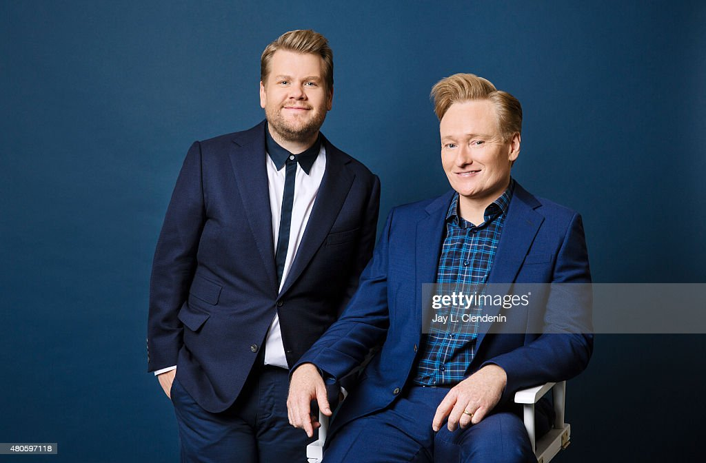 James Corden and Conan O'Brien, Los Angeles Times, June 23, 2015
