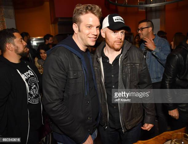 Comedians Anthony Jeselnik and Bill Burr at the Colossal Clusterfest Party during Colossal Clusterfest at Civic Center Plaza and The Bill Graham...