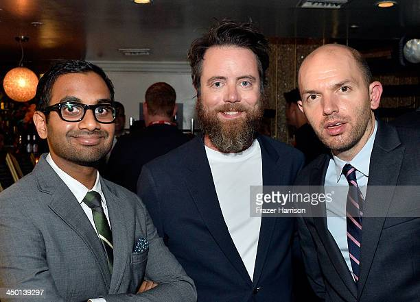 Comedians Aziz Ansari Jon Daly and Paul Scheer attend Variety's 4th Annual Power of Comedy presented by Xbox One benefiting the Noreen Fraser...