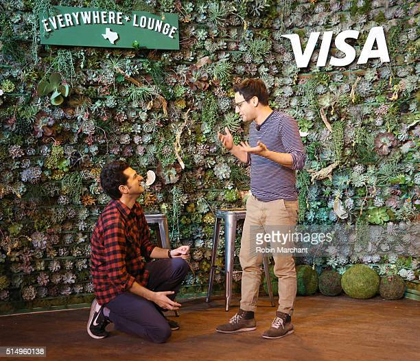 Comedians Ben Schwartz and Gil Ozeri perform at The Visa Everywhere Lounge on March 11 2016 in Austin Texas