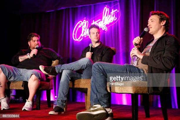 Comedians Big Jay Oakerson Anthony Jeselnik and Dan Soder perform onstage at Room 415 Comedy Club during Colossal Clusterfest at Civic Center Plaza...