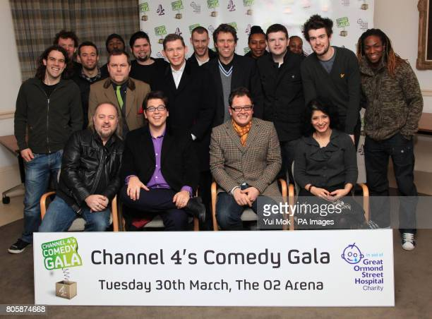 Comedians Bill Bailey, Michael McIntyre, Alan Carr, Shappi Khorsandi, and Jack Dee , Lee Evans , John Bishop , Jack Whitehall and members of Stomp...