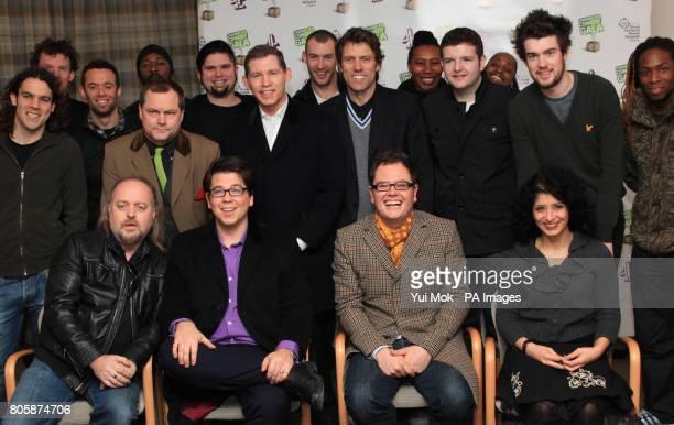 Comedians Bill Bailey, Michael McIntyre, Alan Carr, Shappi Khorsandi, and Jack Dee , Jace Dee Lee Evans , John Bishop , Jack Whitehall and members of...
