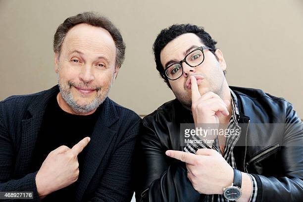 Comedians Billy Crystal and Josh Gad are photographed for Los Angeles Times Magazine on March 19 2015 in Los Angeles California PUBLISHED IMAGE