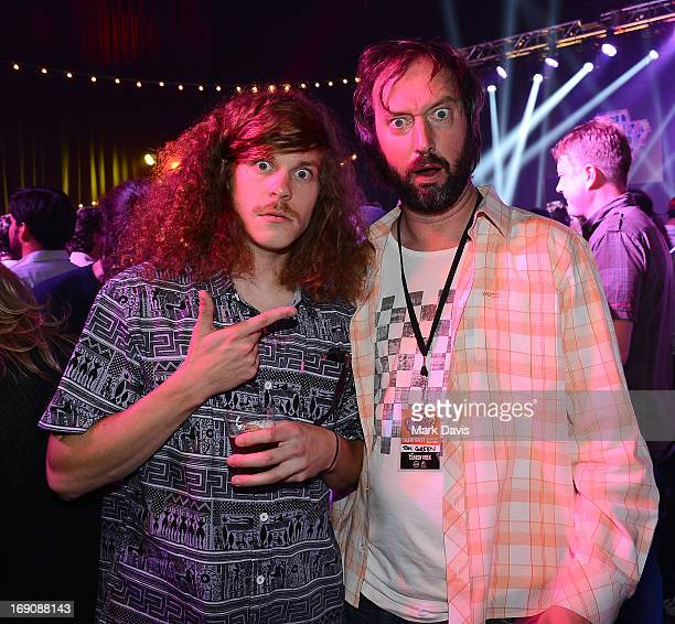 Comedians Blake Anderson and Tom Green attend The Big Live Comedy Show presented by YouTube Comedy Week held at Culver Studios on May 19 2013 in...