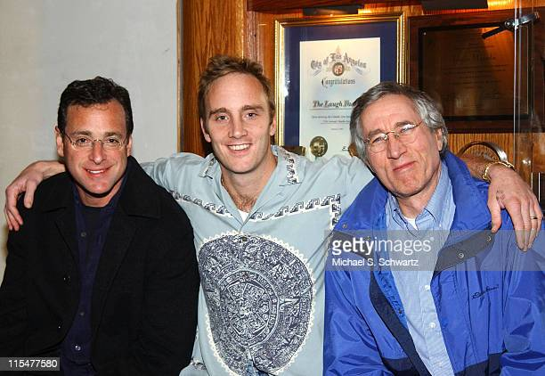 Comedians Bob Saget Jay Mohr and Jim Brogan during Toys For Tots Benefit at The Laugh Factory at The Laugh Factory in Hollywood California United...