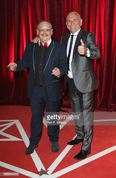 Comedians Bobby Ball and Tommy Cannon attend the British Soap Awards at Media City on May 18, 2013 in Manchester, England.