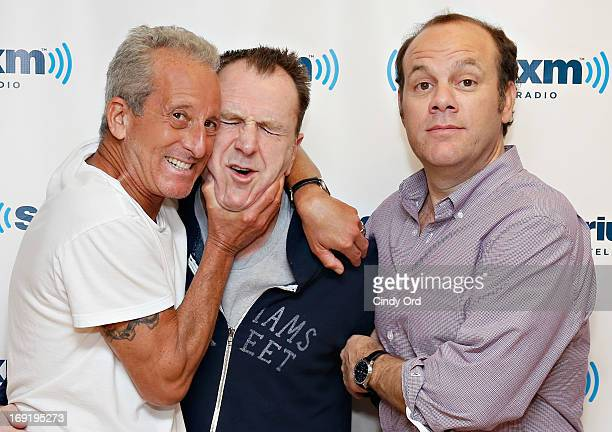 Comedians Bobby Slayton Colin Quinn and Tom Papa visit the SiriusXM Studios on May 21 2013 in New York City