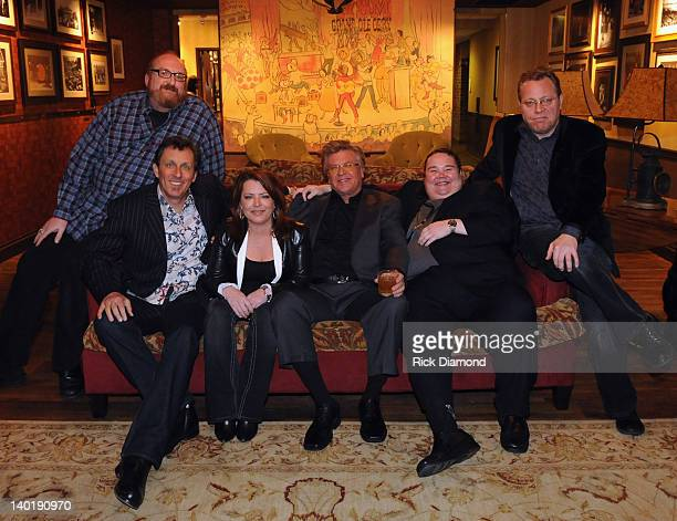 Comedians Brian Posehn Jake Johannsen Kathleen Madigan Ron White John Pinette and Mike Wilmot backstage before the taping of CMT Presents Ron White...