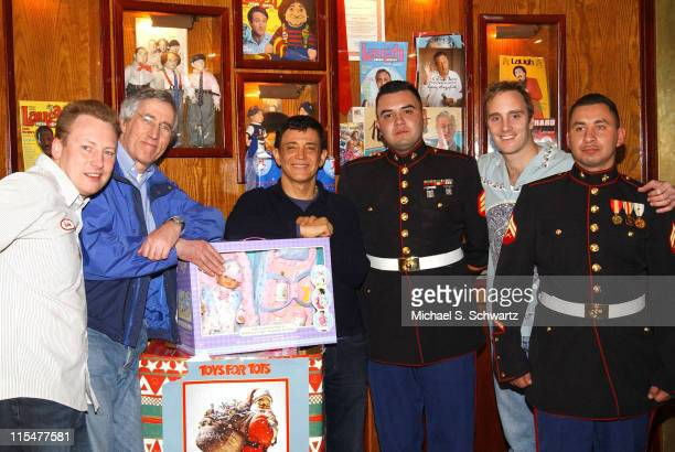 Comedians Butch Bradley Jim Brogan The Laugh Factory Owner Jamie Masada Sgt MarioJavrequi Jay Mohr and Corp Anthony Sotelo
