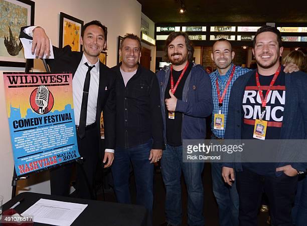 Comedians Cast of Sullivan Sons member Steve Byrne Impractical Jokers members Joe Gatto Brian Q Quinn James Murr Murray and Sal Vulcano attend the...