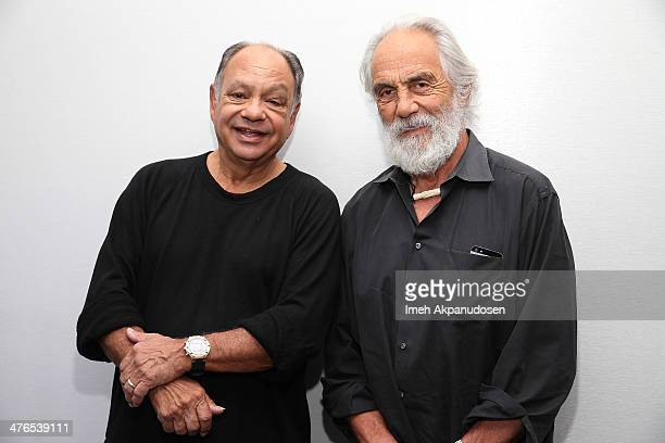 Comedians Cheech Marin and Tommy Chong attend a KCET Pledge Drive with WAR at KCET Studios on March 3 2014 in Hollywood California