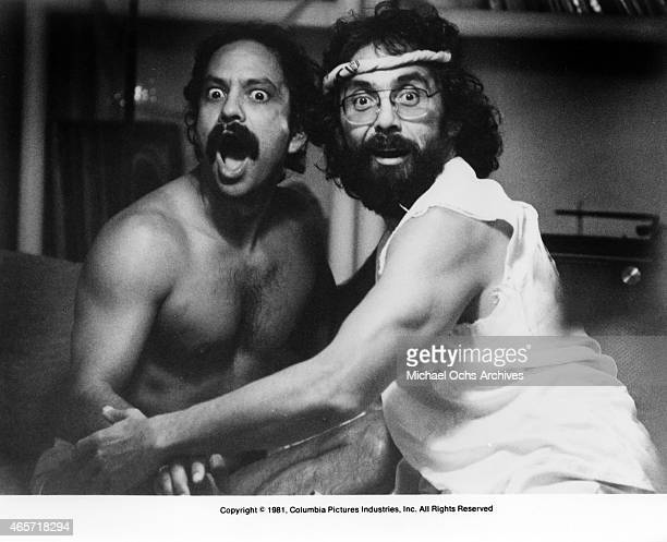 Comedians Cheech Marin and Tommy Chong in a scene from the movie 'Cheech And Chong's Nice Dreams' which was released in June 1981