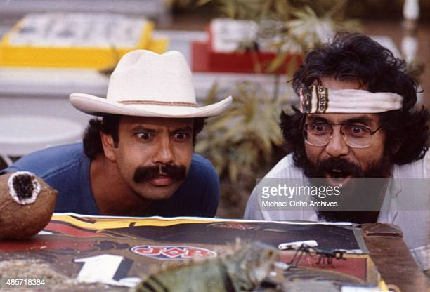 Comedians Cheech Marin and Tommy Chong in a scene from the movie Cheech And Chong's Nice Dreams which was released in June 1981