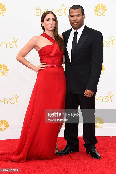 Comedians Chelsea Peretti and Jordan Peele attend the 66th Annual Primetime Emmy Awards held at Nokia Theatre LA Live on August 25 2014 in Los...