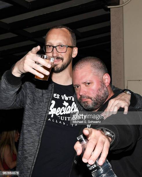 Comedians Chris Porter and J Chris Newberg attend Comedian Ben Gleib's 40th Birthday Celebration on June 23 2018 in Sherman Oaks California