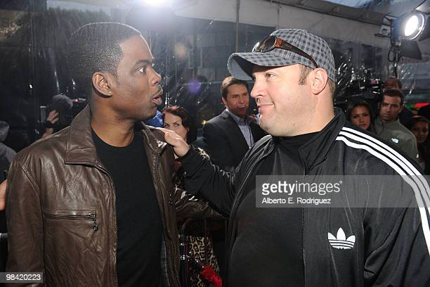 """Comedians Chris Rock and Kevin James arrive at Sony Pictures Releasing's """"Death At A Funeral"""" premiere held at Arclight Cinema on April 12, 2010 in..."""