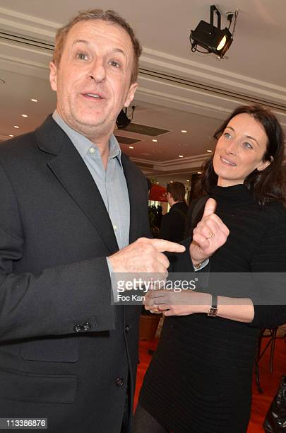 Comedians Christian Charmetant and Delphine Serina attend 'Les Moments Biere' - Beer Cooking Party by Chefs Hosted by Kronenbourg at Pavillon Gabriel...