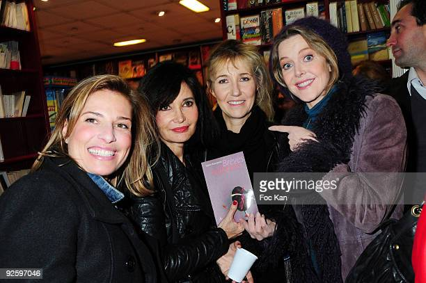 Comedians Christine Lemler Evelyne Bouix writer Sylvie Bourgeois Harel and comedian Agnes Soral attend the 'Breves Enfances' Sylvie Bourgeois Harel's...