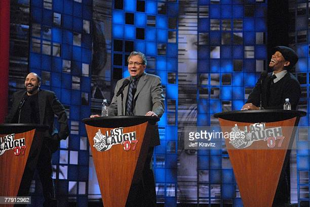 Comedians Dave Attell, Lewis Black and D.L. Hughley onstage at Comedy Central's LAST LAUGH 2007 at the Wilshire Theater on November 13, 2007 in...