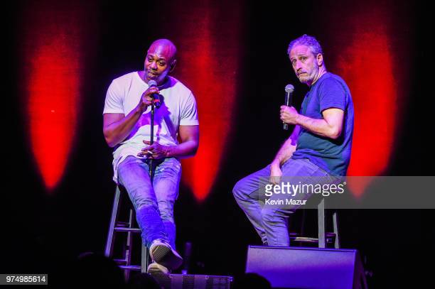 Comedians Dave Chappelle and Jon Stewart kick off a limited threecity run at Wang Theatre at Boch Center on June 13 2018 in Boston Massachusetts