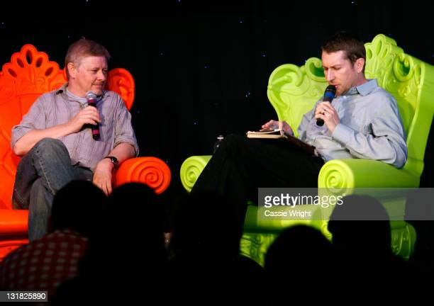 Comedians Dave Foley and Scott Aukerman speak onstage at the 2011 SXSW Music Film Interactive Festival Comedy DeathRay Radio With Scott Aukerman Live...