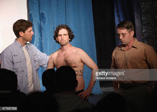 Comedians Dave McCary Kyle Mooney and Beck Bennet speak onstage at Up Next Featuring Fred Armisen during the 2014 SXSW Music Film Interactive...