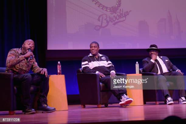 Comedians Donnell Rawlings Tracy Morgan and Cedric The Entertainer speak onstage during the TBS Comedy Festival 2017 The Last OG's Presents A Toast...