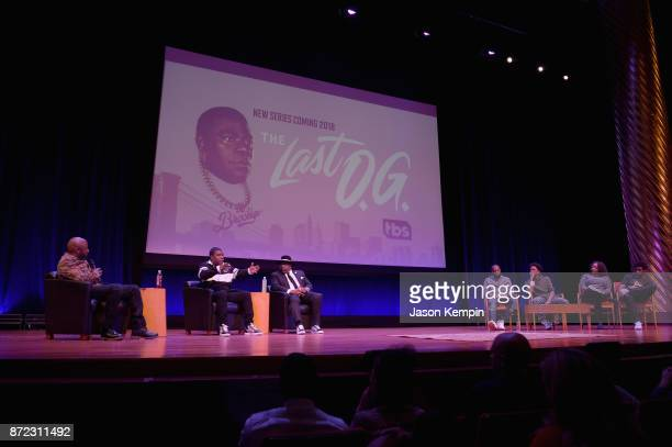 Comedians Donnell Rawlings Tracy Morgan Cedric The Entertainer Kevin Iso Jak Knight Tracey Ashley and Derek Gaines speak onstage during the TBS...