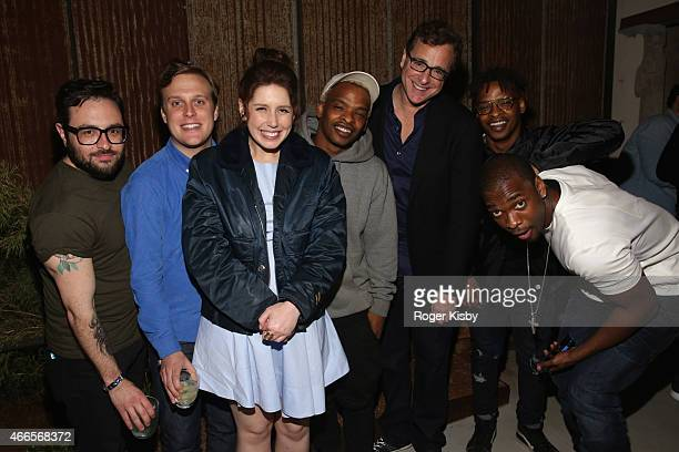 Comedians Eliot Glazer John Early Vanessa Bayer Sherwyn Nicholls actor Bob Saget Kendrick Nicholls and Jay Pharoah attend The Ally Coalition...