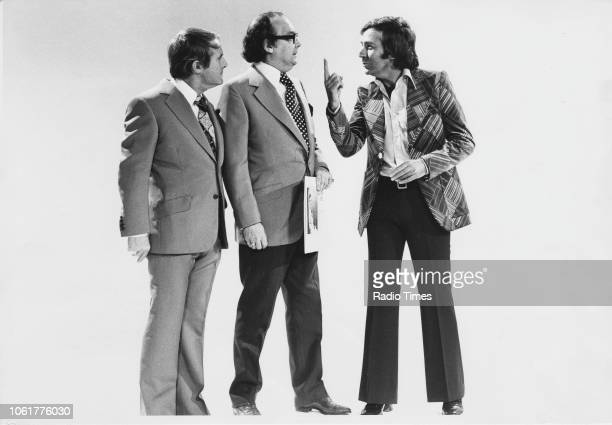 Comedians Ernie Wise Eric Morecambe and Des O'Connor in a sketch from the Christmas special of 'The Morecambe and Wise Show' December 4th 1975 First...