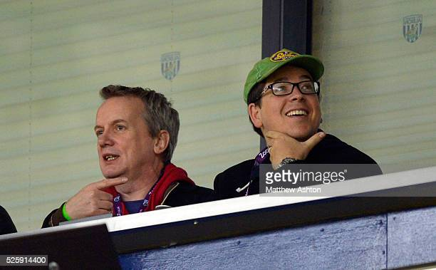 Comedians Frank Skinner & Michael McIntyre watch the game - Skinner is WBA fan & McIntyre is Spurs fan