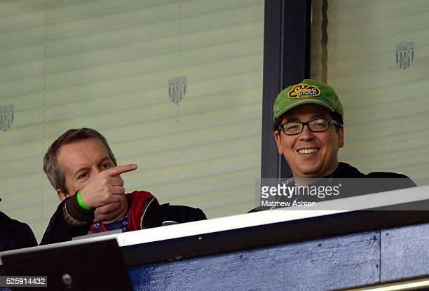 Comedians Frank Skinner & Michael McIntyre watch the game - Skinner is WBA fan & McIntyre is Spurs fan