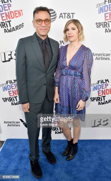 Comedians Fred Armisen and Carrie Brownstein attend the 2018 Film Independent Spirit Awards on March 3 2018 in Santa Monica California