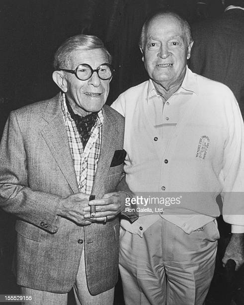 Comedians George Burns and Bob Hope attending 179 Years Of Comedy on October 1, 1989 at Madison Square Garden in New York City, New York.