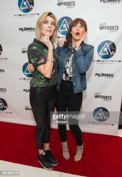 Comedians Grace Helbig and Mamrie Hart attend the Astronauts Wanted And Rumble Yard Joint 2017 New Front Presentation at Sony Music Headquarters on...