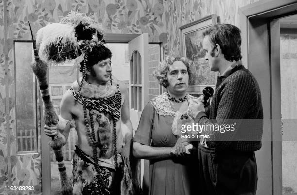 Comedians Graham Chapman Terry Jones and John Cleese in the 'Our Eamonn' sketch from series 3 of the BBC television show 'Monty Python's Flying...