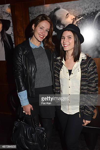 Comedians Gwendolyn Gourvenec and Anne Sophie Picard attend the Christophe Brachet And Factory Graff Design Exhibition Preview At Le Buddha Bar on...