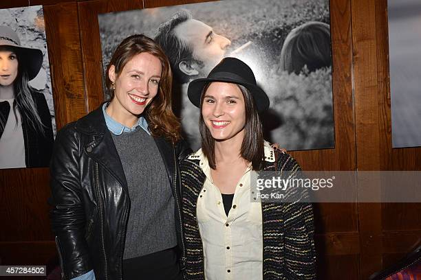Comedians Gwendolyn Gourvenecand Anne Sophie Picard attend the Christophe Brachet And Factory Graff Design Exhibition Preview At Le Buddha Bar on...