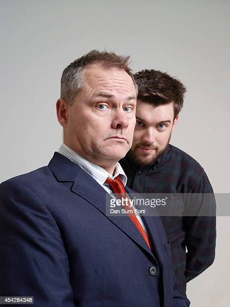 Comedians Jack Dee and Jack Whitehall are photogrpahed for ES magazine on November 26 2013 in London England