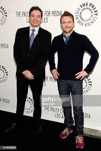 """Comedians Jimmy Fallon and Chris Hardwick arrive at the Paley Center for Media's PaleyFest 2011 event honoring """"An Evening With Jimmy Fallon"""" at the..."""