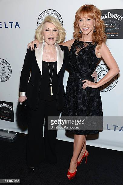 Comedians Joan Rivers and Kathy Griffin attend The Friars Foundation Annual Applause Award Gala honoring Don Rickles at The Waldorf=Astoria on June...