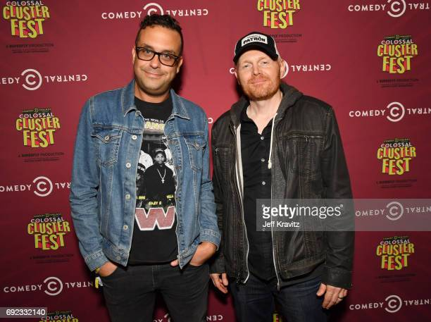 Comedians Joe DeRosa and Bill Burr at the Colossal Clusterfest Party during Colossal Clusterfest at Civic Center Plaza and The Bill Graham Civic...